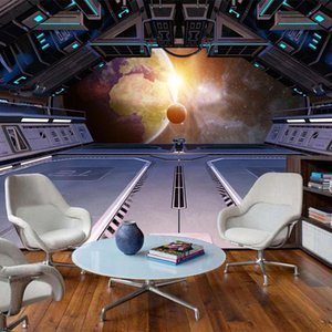 Wallpapers Custom Any Size Mural Wallpaper Modern Spaceship Starry Sky Universe Landscape 3D Background Wall Paper Papel De Parede Sala 3 D