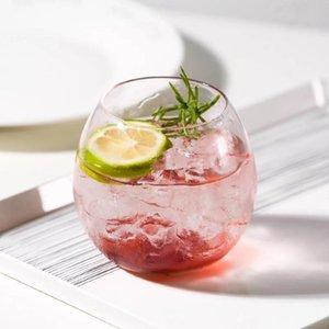 Wine Glasses 400ml Transparent Round Glass Cup Nordic Rall Cocktail S Whiskey Tea Iced Coffee Mug Home Yogurt Dessert Soda