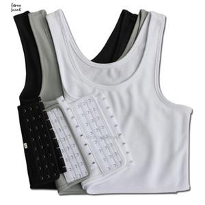 Breast Lesbian Les Casual Breathable Buckle Short Chest Binder Trans Vest Firm Tops Plus Size S 4Xl 5XlLW4M