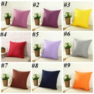 Home Sofa Pillowcase Pure Color Polyester White Pillow Cover Cushion Cover Decor Pillow Case Blank Christmas Decor Gift 45 * 45CM LLS530
