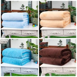 Soft Warm Pets Blanket Dog Flannel Blankets Puppy Solid Color Bed Blankets Sleeping Cushion Rest Mat Dog Supplies LXL841-1