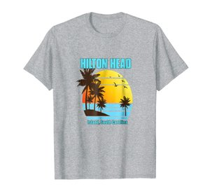 Hilton Head Island South Carolina Vacation Shirt Palm Trees