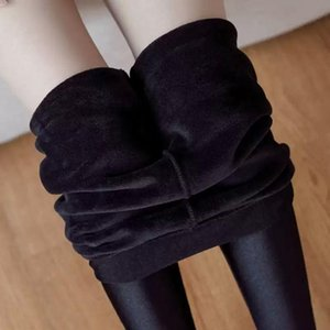 2021 autumn and winter Christmas clothing plus velvet thin leggings, high waist thin legs, plus size yoga pants women