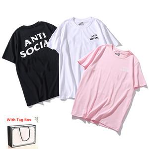 Женская футболка с коротким рукавом Высококачественные мужские топы Tees Чисто хлопчатобумажная Летняя буква Печать хип-хоп стиль одежды с тегом