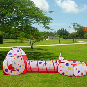 Portable Kids Outdoor Game Play House Children Toy Tent Ocean Ball Pit Pool Black Side Bounce House with Zippered Storage Bag
