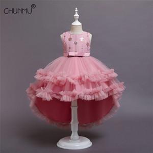 Summer Flower dentelle filles de mariage pages de mariage robes de soirée princesse formelle robe de bal taille 3-14 ans nouvelle enfant fille vêtements 210303