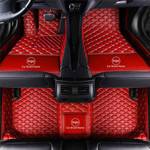 Custom Fit Car Floor Mat Carpet Specific Waterproof Leather ECO friendly Material For Vast of Car Model and Make Single Layers Full red 001