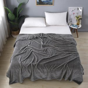 Polar Fleece Throw Coperte Soft Travel Blanket Color Solid Color Copriletto Peluche per il letto Divano Caldo Regalo Tessile per la casa
