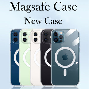 Mgnetic Case for iPhone 12 Magsafe Charger Protective Case for iPhone 12 Pro Max 12 Mini Wireless Charger Transparent Thin cover