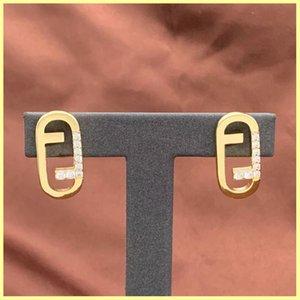 2021 женские серьги-гвоздики золотые ожерелья буква f ювелирные изделия набор ювелирных изделий роскоши дизайнерские серьги дизайнерские мужские ожерелья серьги орнаменты 21090305R