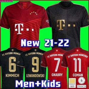 Bayern Munich 21 22 LEWANDOWSKI SANE maillot de foot COMAN MULLER GNABRY DAVIES maillots de football hommes + enfants enfant kit MUNCHEN de la soccer jersey quatrième 2021 2022
