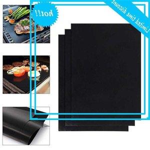 3/6 adet Bitkisel Yapışmaz BARBEKÜ Izgara Mat Arkaplat Taşınabilir Açık Piknik Pişirme Pad Magnetron Fırın Aracı 40x50 cm