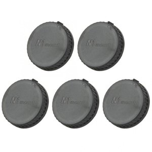 Lens Caps Plastic Rear Cap Cover Fits For Mirrorless Camera N1 Black Anti-dust 5Pcs