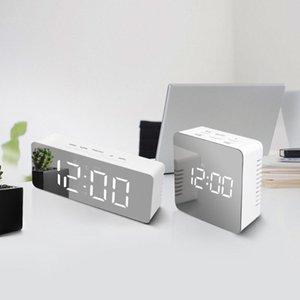 LED Lights Mirror Desk Lamps Digital Clock LED Alarm Clock For Room bedroom bedside Night Lamp Lighting Decoration Table Light
