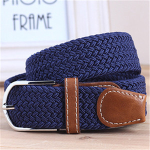 Casual 40 Elastic colors Braided Fashion Stretch Women's Belt, Woven Canvas Pin Buckle Belt mens designer belts 110cm