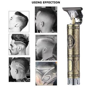 New Engraving Head Cutter Electric Hair Clippers Buddha Dragon T-shaped 1200mah Battery Men Trimmers Hair Cutting Machine