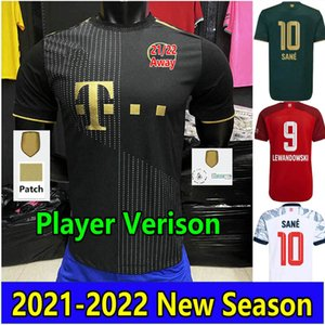 2021 2022 SANE SABITZER GNABRY soccer jerseys Player Version MULLER LEWANDOWSKI Jersey 21 22 HERNANDEZ DAVIES MUSIALA GORETZKA Football uniform maillot de futol