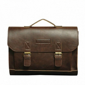 Mens Vintage Messenger Bags Satchel Briefcases PU Leather Office Crossbody Bags Solid Business Bags Male Briefcases Briefcases T45l#