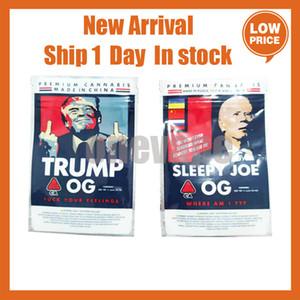 Trump og Sleep Herb Joe Bags 3.5g Bolsas secas Flor sellada Flor Flat 3 420 Mylar Og Nueva bolsa de embalaje NBHDL EDIBLES BOLSA Bolsa de galletas Mylar