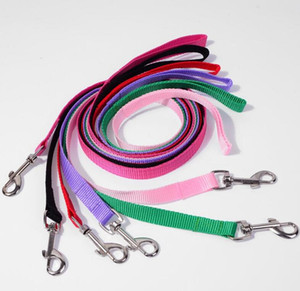 Nylon Dog Leashes Width 1.5cm Long 110cm Pet Puppy Training Straps Black Blue Dogs Lead Rope Belt Leash WWA134