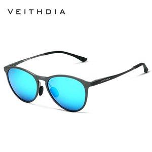 Veithdia Retro Aluminium Magnesium Sonnenbrille Polarisierte Linse Vintage Eyewear Zubehör Sonnenbrille Männer / Frauen 6625 0222