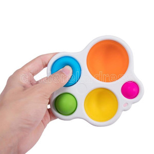Simple Dimple Fidget Popper Toys, Pop It Fidget Push Pop Silicone Sensory Toys, Infant Early Education Attention Learning Toys DHL