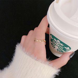 New light luxury bamboo fashion personality Korean index finger ring niche design exquisite versatile hand accessories