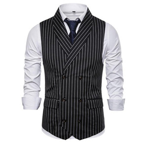 British Style Vest Men Slim Fit Business Mens Dress Vests New Arrival Herringbone Wedding Suit Male Waistcoat Gilet Homme