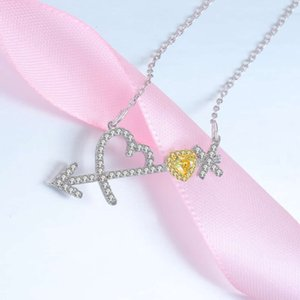 fashion Simple HBP style poetry pendant, arrow God love, diamond necklace, gold-plated jewelry of Japan and South Korea