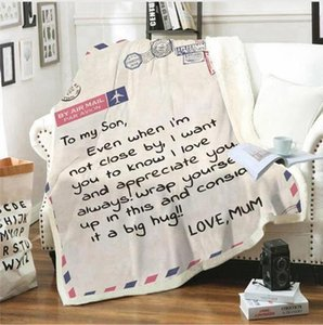 Coral Fleece Blanket To My Daughter Letter Printed Quilts Dad Mom Husband Blankets Encourage And Love Blanket 6 Sizes LJJP719
