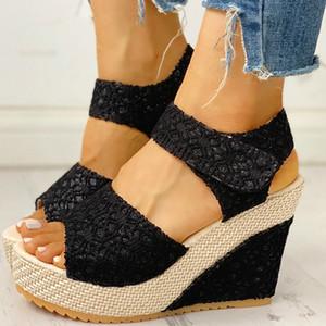 Luxury Women Sandals Summer New Fashion Brand Designer Wedge Sandals Open Toe Platform Party High Heels Women Shoes Wholesale Q0224