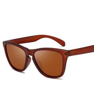 Vintage esporte homens polarizados óculos de sol clássico quadro quadrado óculos de sol condução óculos para homens / mulheres uv400 oculos de sol