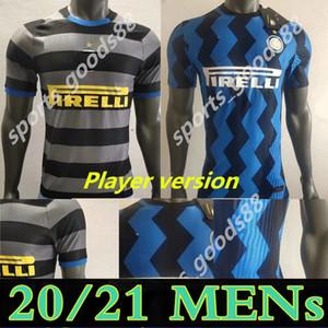 20 21 Versione giocatore Inter Home 3rd Eriksen Lukaku Lautaro Milano Soccer Jersey Sensi Barella Jersey 2020 2021 Camicia da calcio Camicia da uomo