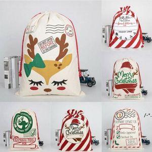 Newchristmas سانتا أكياس قماش أكياس القطن كبير الثقيلة الرباط هدية أكياس شخصية مهرجان حزب عيد الميلاد الديكور LLB8551