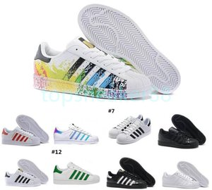 High quality white hologram rainbow red gold super star sneaker women and men sports running shoes