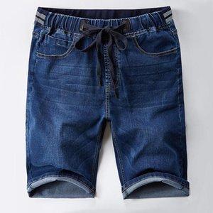 Pantalones cortos de jean del estiramiento de verano Los pantalones vaqueros rectos de los hombres sueltos pantalones cortos de mezclilla ocasionales para hombres para hombre vaquero hombres ropa