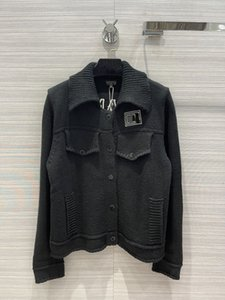 Milan Runway Jackets 2021 Autumn Winter Lapel Neck Long Sleeve Embroidery Women's Designer Coats Brand Same Style Outerwear 0918-3