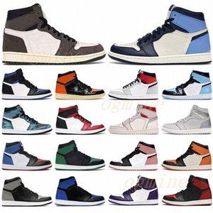 with box 2021 air jordans Jordan jordon men women fearless chicago obsidian mocha satin retro shoes 1 1s low mens Jumpman basketball court grey 36-47