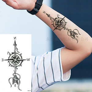 Cross-Border Direct Supply Small Full Arm Tattoo Stickers Flower Letter Waterproof Tattoo Stickers Long-Lasting Stickers Tattoo