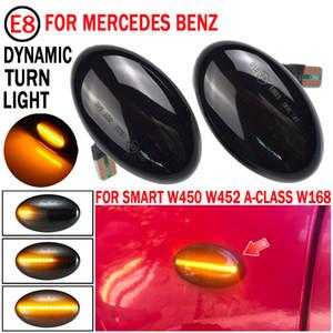 2x Dinamik LED Dönüş Sinyal Işıkları Yan Marker Araba Aksesuarları Mercedes Benz Akıllı W450 W452 A-Sınıf W168 Vito W639 W447
