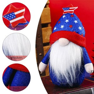 Independence Day Party Decorative Gnomes USA Veteran Days 4th of July Patriotic Faceless Plush Doll Kids Gift Home Ornament HWE9766