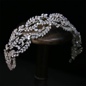 Pageant Zircon Headband Hairband Wedding Bridal Crown Tiara Hair Accessories Jewelry Party Prom Headpiece Ornament Dress Accessories Piece