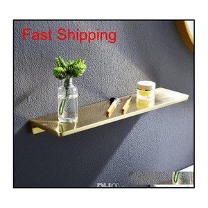 Bathroom Shelf Brass Bath Shower Rack Shower Shelf Bath Holder Bolt Inserting Type Gold Towel Rack Corner Shel jllaeh jhhome