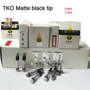 TKO-Extrakte Sauce-VAPE-Kartusche Verpackung 0.8ml Keramikspule leerer Vape-Penpatrone dickes Öl Matte schwarz Tipp 510 Gewindezerstäuber