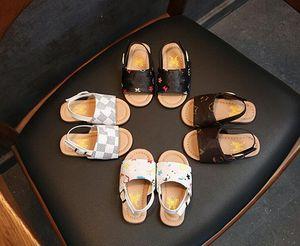 Niñas de verano princesa zapatos sandalias bebé antideslizante suave niño zapato niños playa impresión a cuadros para niños