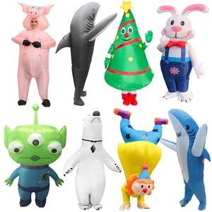 Hlloween Costumes for dult Men Women lien Rbbit Infltble Costume Crnivl Prty Clown Christms Tree Role Ply Dress