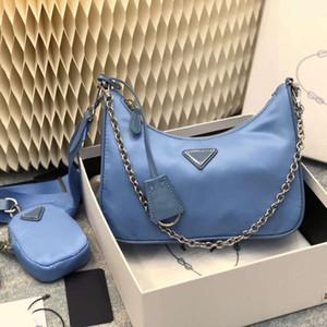 Luxury Top quality handbags 2020 women fashion purses multi pochette blue chains composite shoulder reedition bag sacs à main luxe de concep