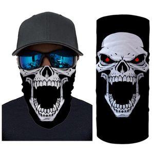 Hycool Magic Headband Party Halloween Schädel Joker Muster Motorrad Winddicht Hals Gaiter Radfahren Balaclava Sport Wandern Schal