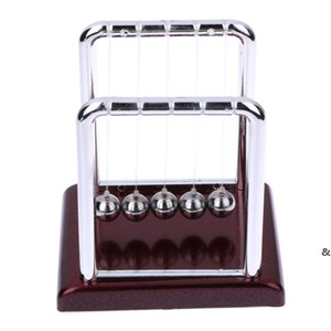 Wholesale- New Design Early Fun Development Educational Desk Toy Gift Newtons Cradle Steel Balance Ball Physics Science Pendulum EWF5051
