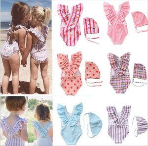 2021 new children's swimsuit girl's striped flash swimsuit girl's one piece fashion baby girl's lovely swimsuit